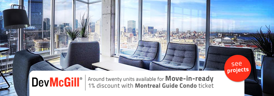 1% off with the ticket from MOntreal Guide Condo for devMcGill