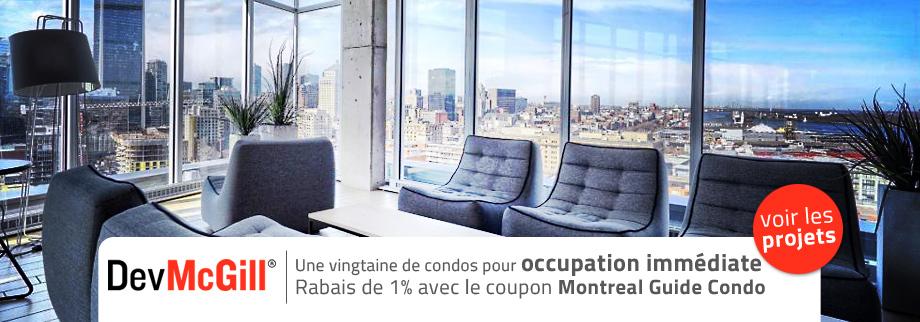 Rabais de 1% avec le coupon de Montreal Guide Condo pour DevMcGill