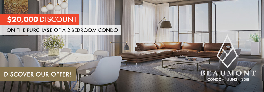 Beaumont condominium, $20,000 discount on the purchase of a 2-bedroom condo