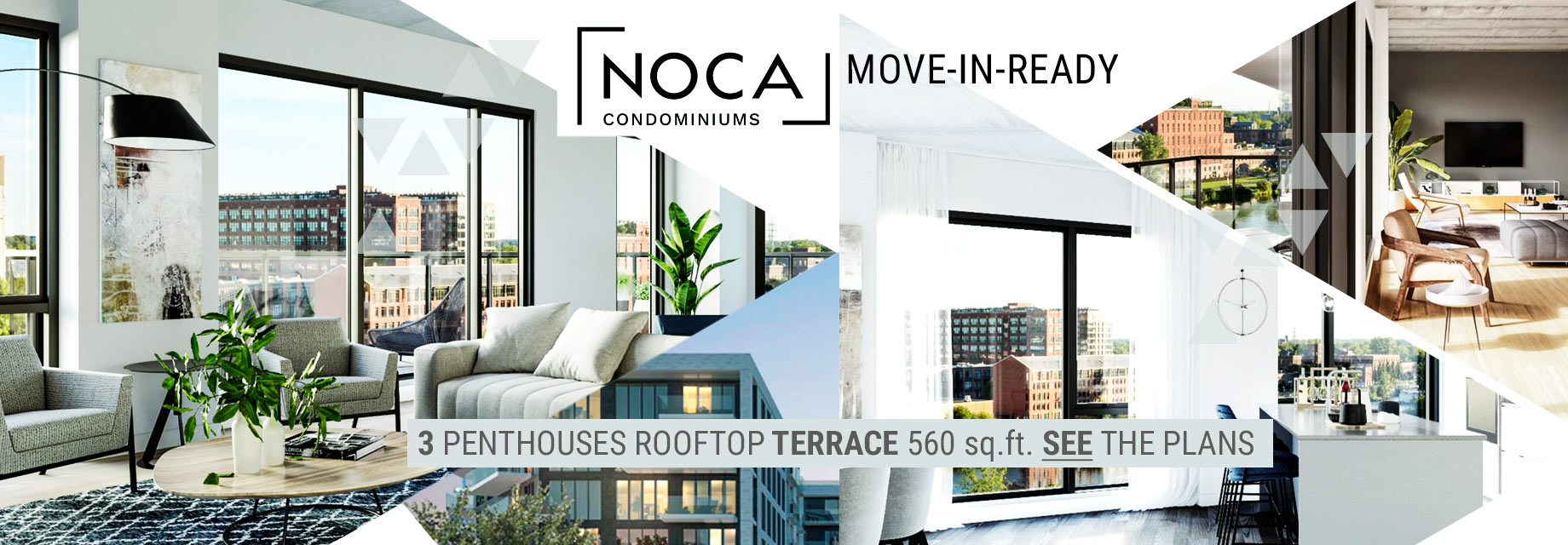 Only 3 fantastic penthouses with a roof top terrace of at leat 500 square feet.