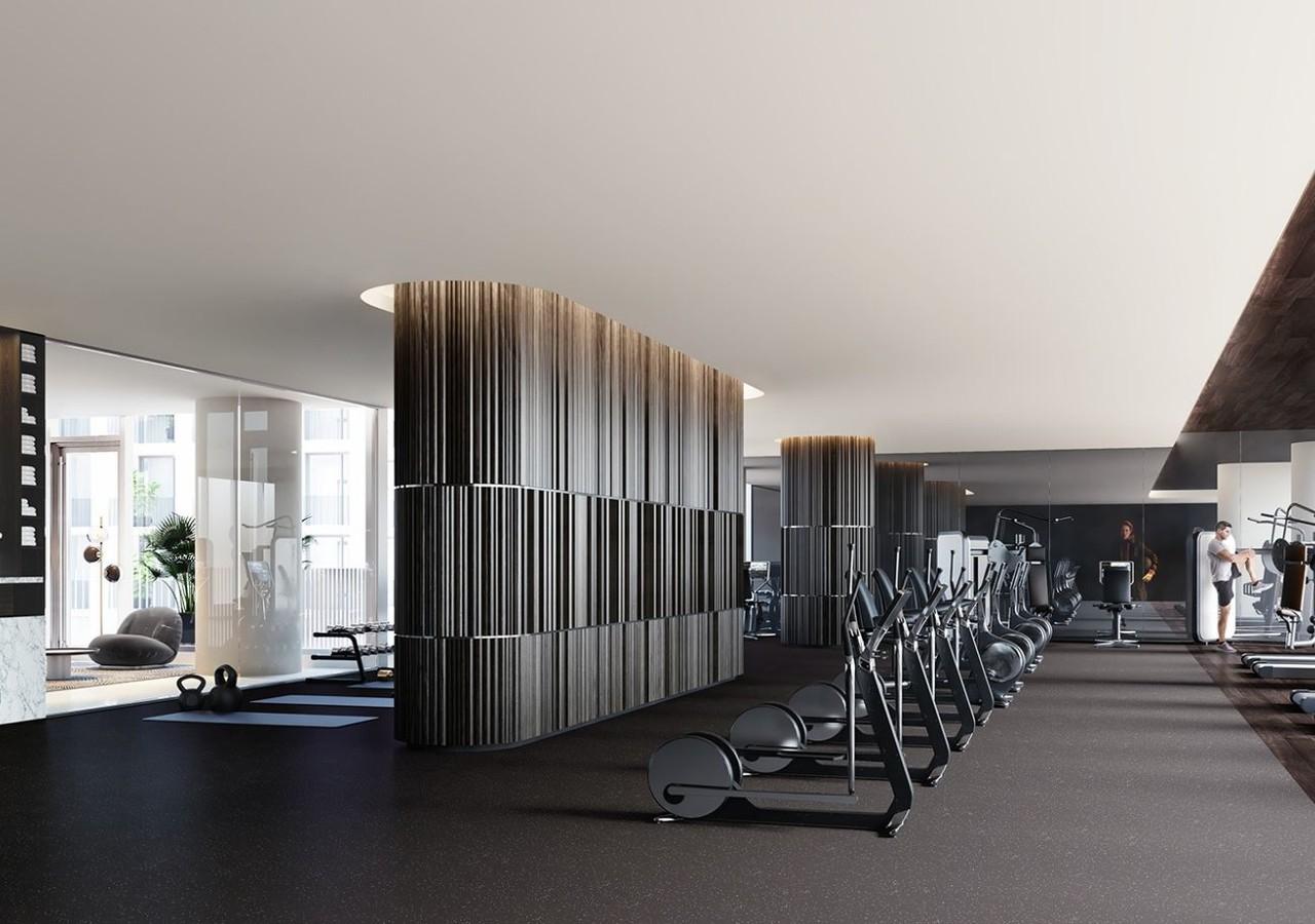 Salle de gym à la fine pointe de la technologie de 1 Square Philips