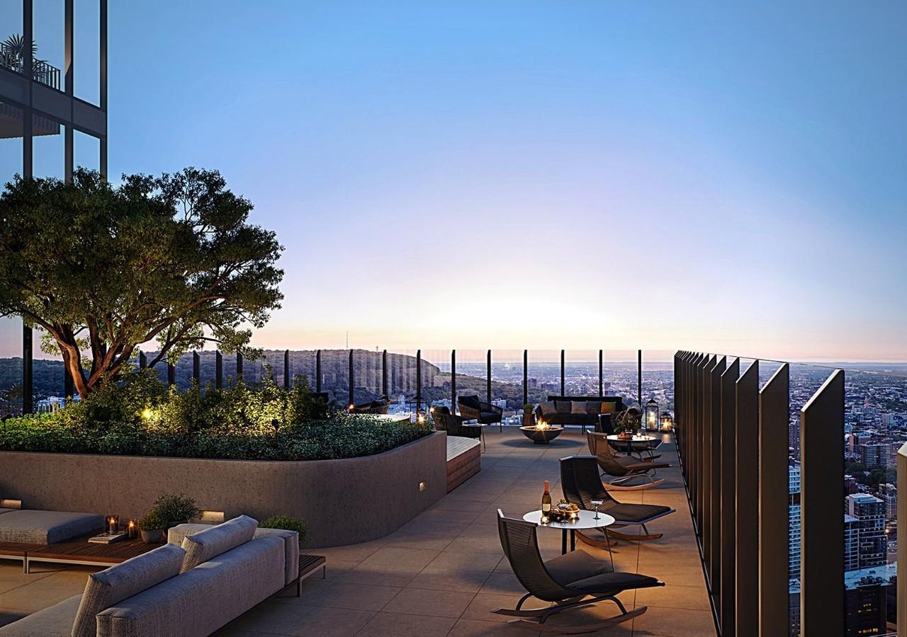 Terrace sur le toit de 1 Square Philips