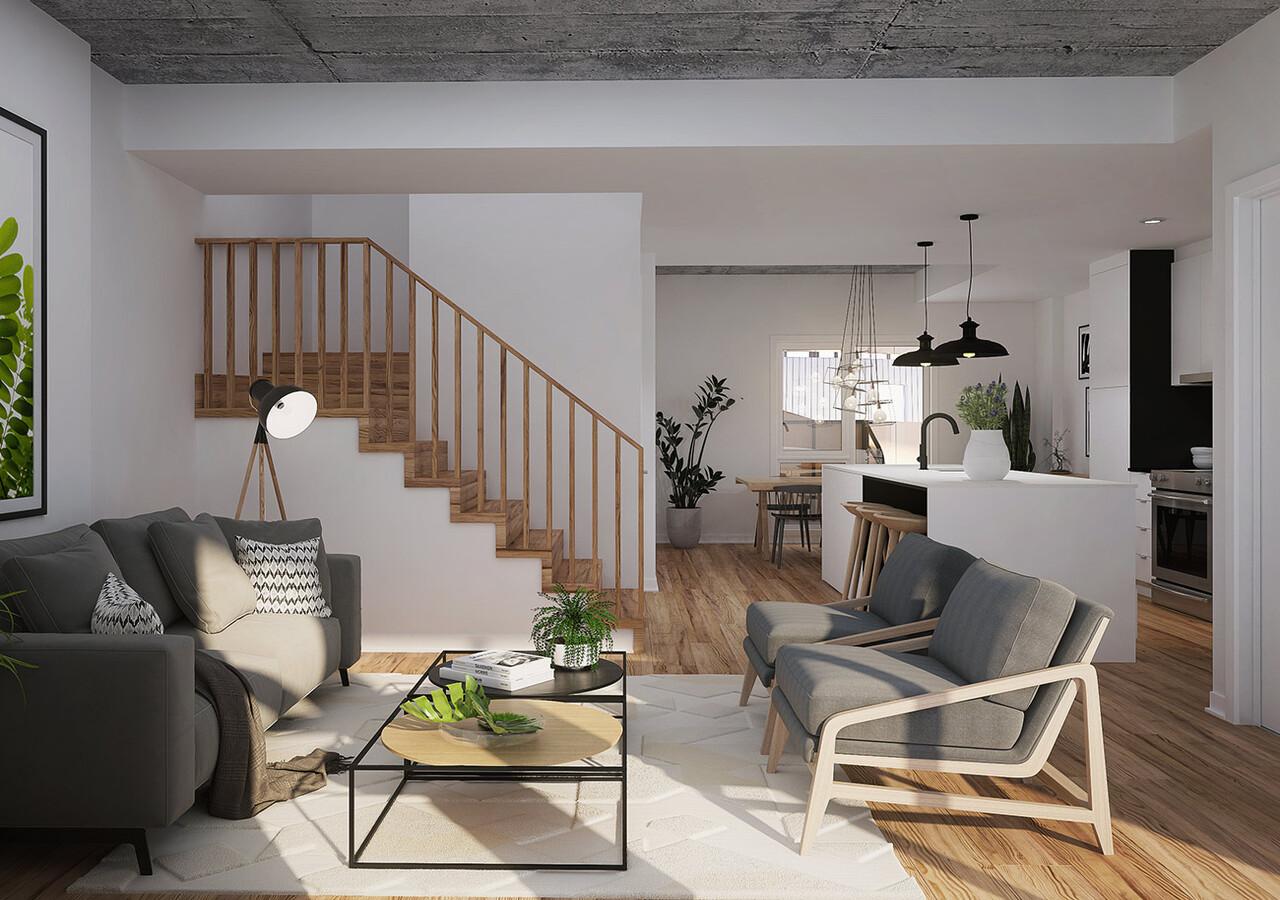 Living room of Cité Angus
