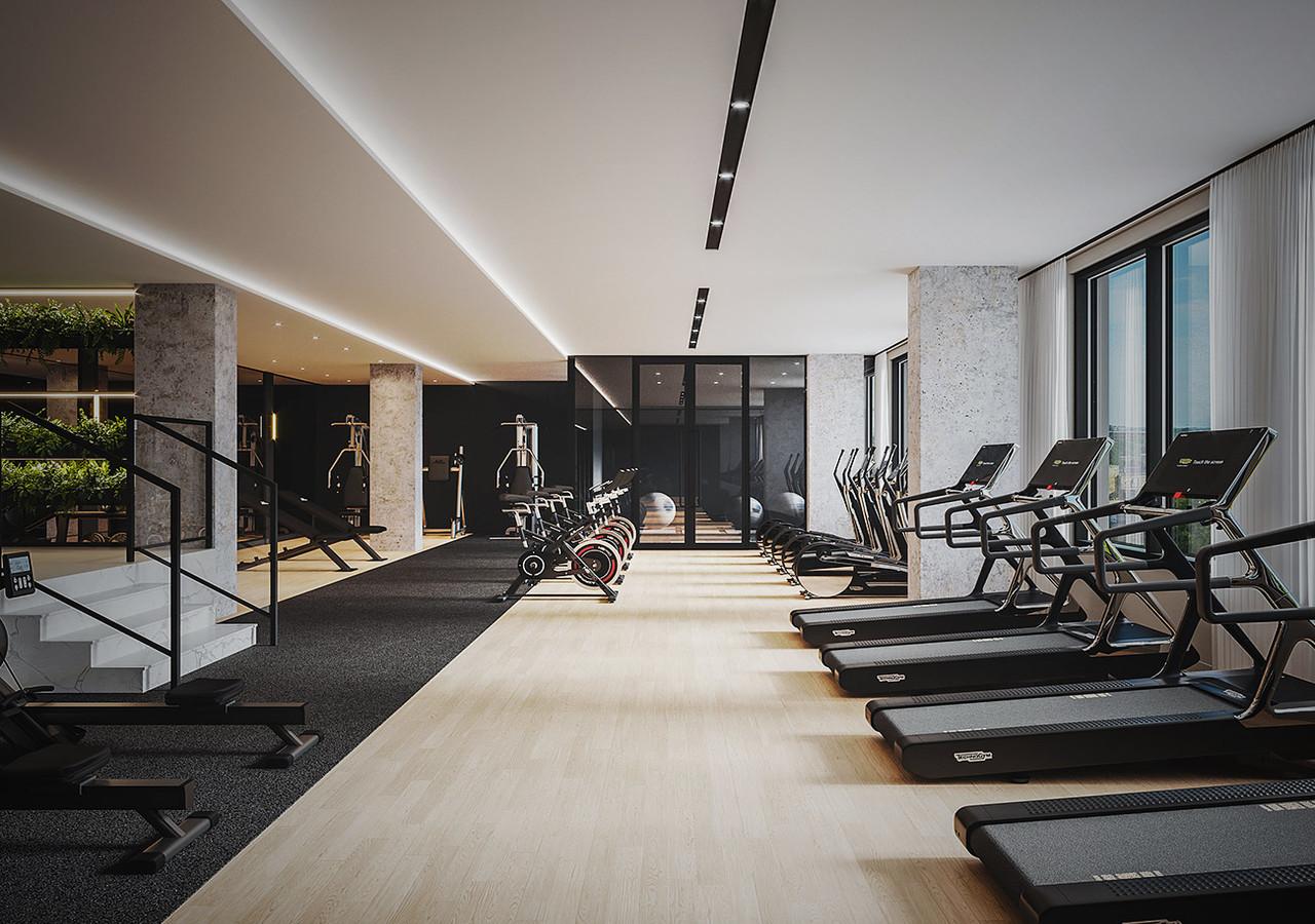 Salle de gym haute qualité