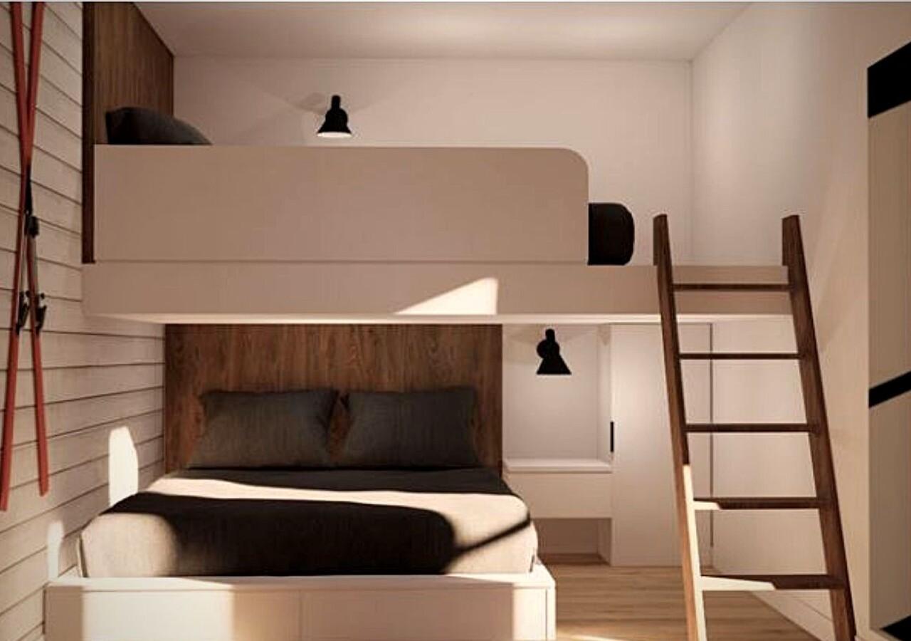 Les Repères Mont-Orford chambres avec lit deux étages