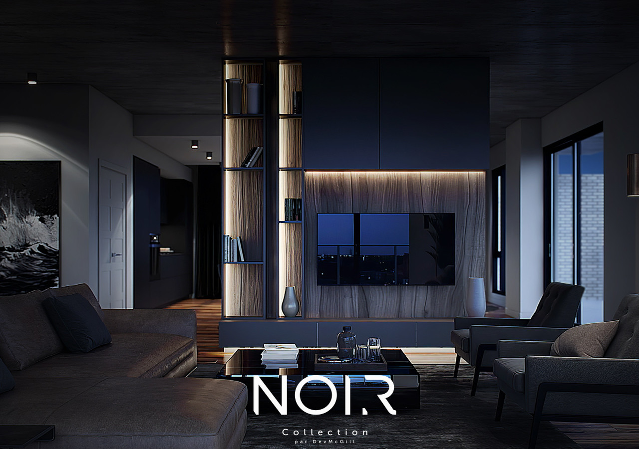 noir collection black living room