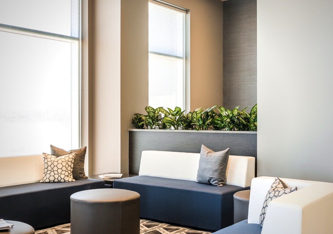 Lounge area with couch