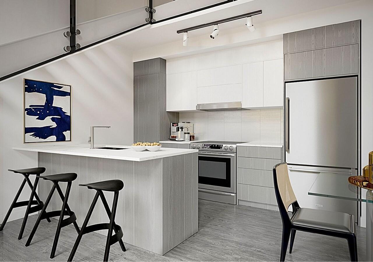 Théâtre Snowdon modern kitchen