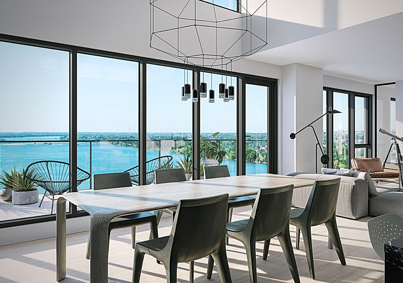 Symphonia Sol  kitchen with magnificent view