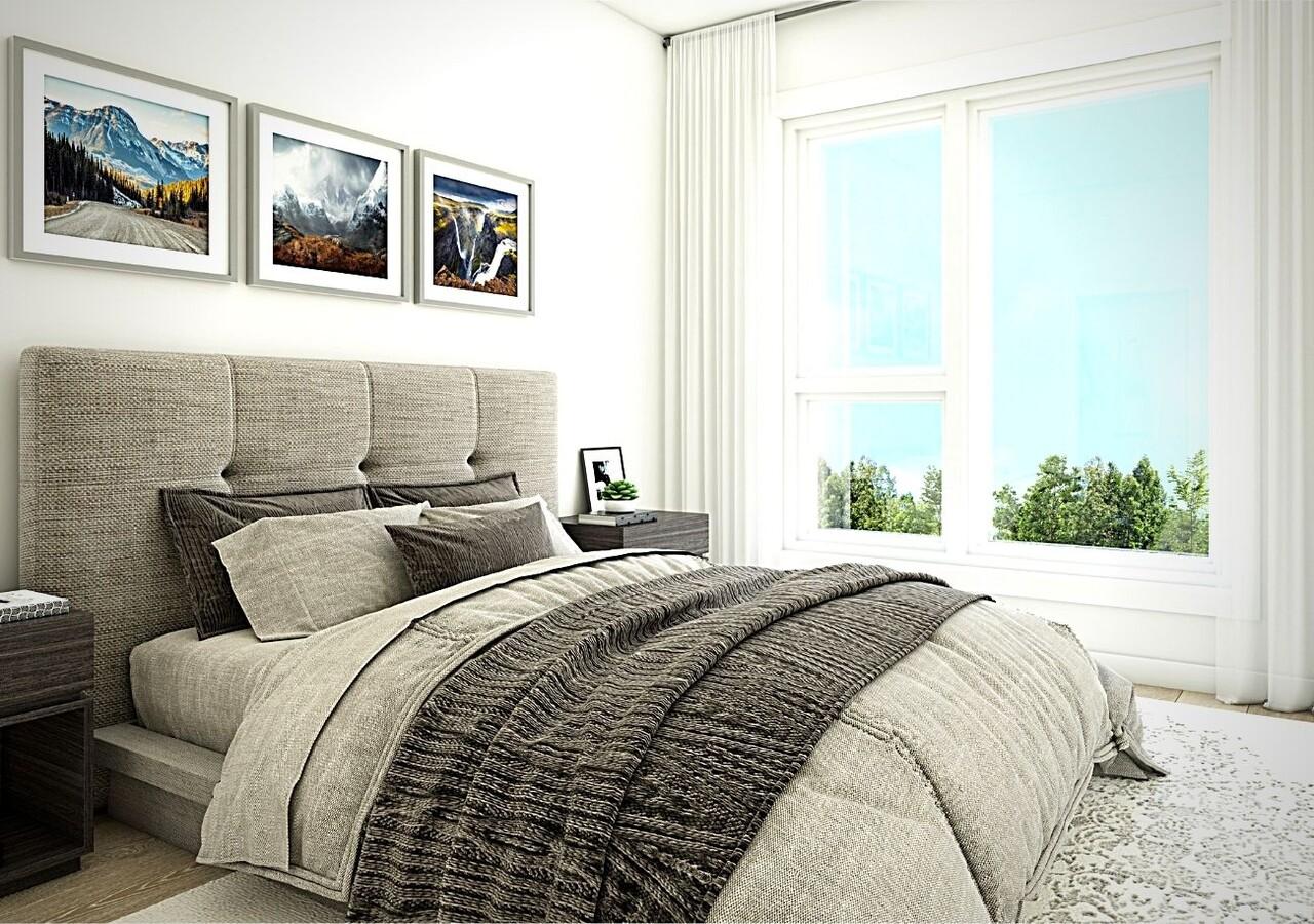Le Vivo Sherbrooke chambre avec grandes fenêtres