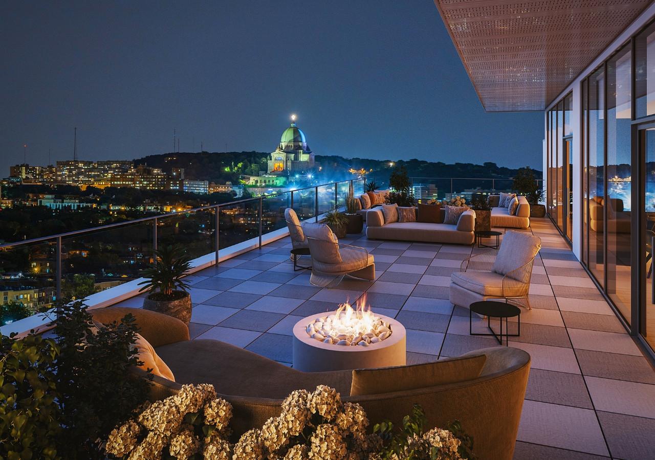 westbury condos espace lounge sur la terrasse
