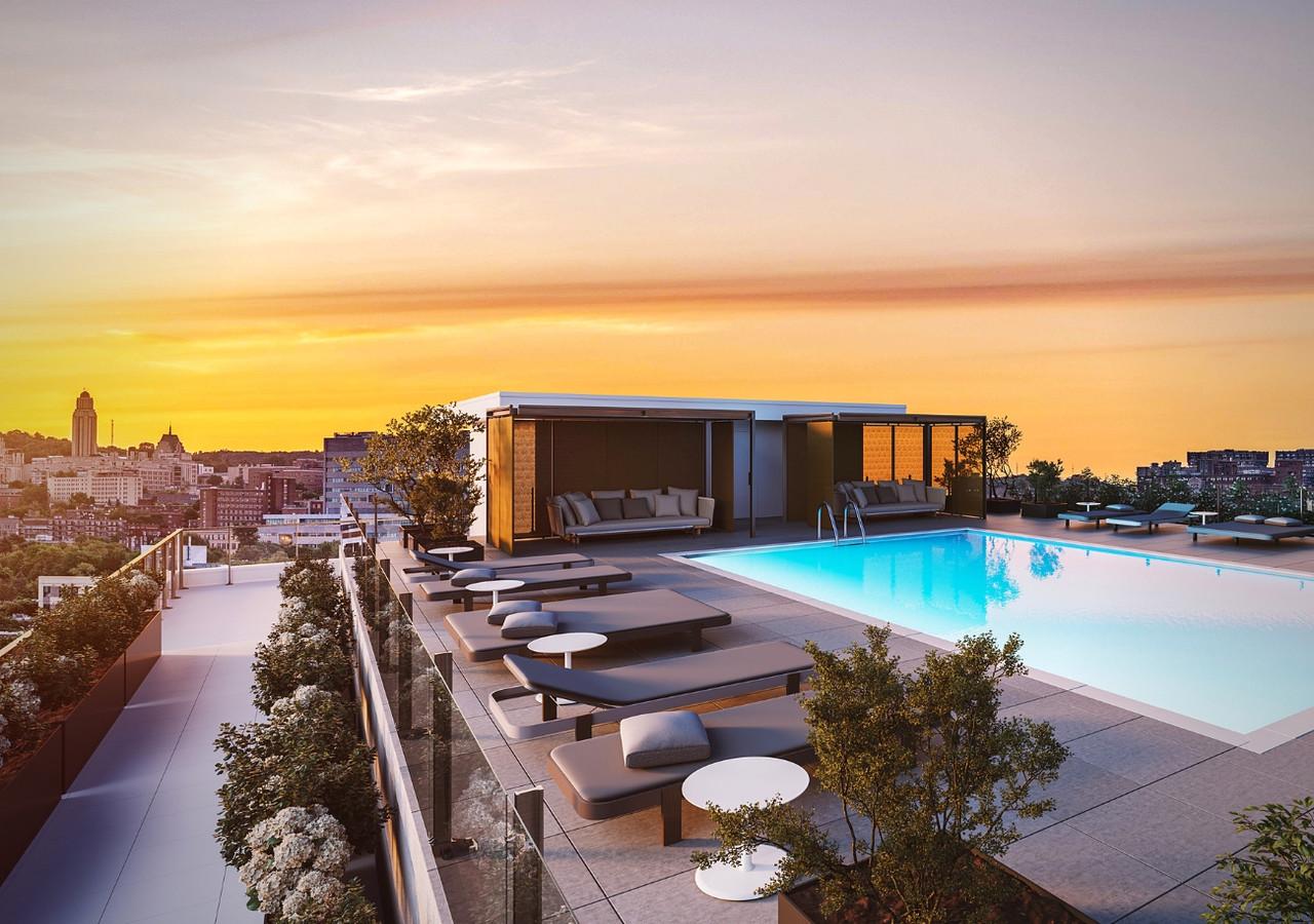 westbury condos piscine sur la terrasse