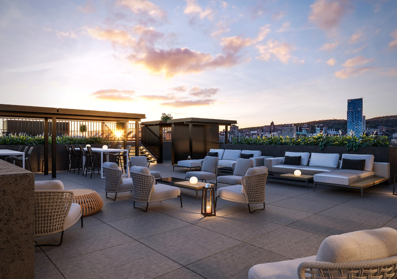 Will + Rich lounge area on the rooftop terrace