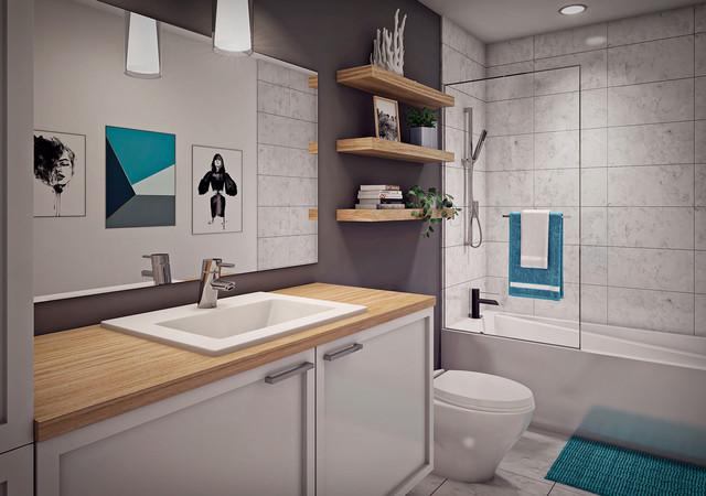 Bathroom of Aera condos