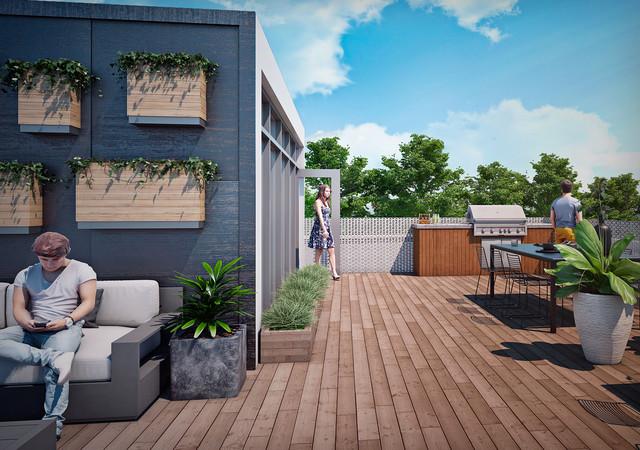 terrasse au toit