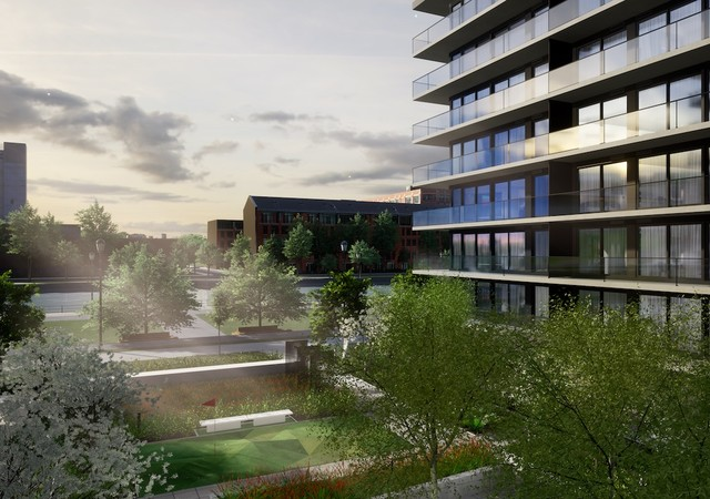 View on the project with the parc