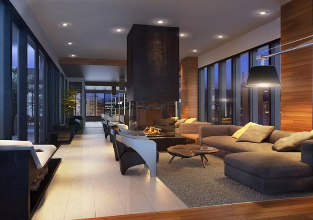 Salon commun avec divans