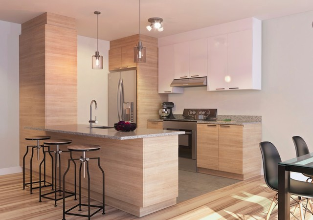 Kitchen with pale finishes