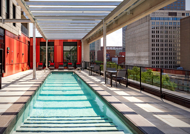 myriade the outdoor pool ont the rooftop terrace