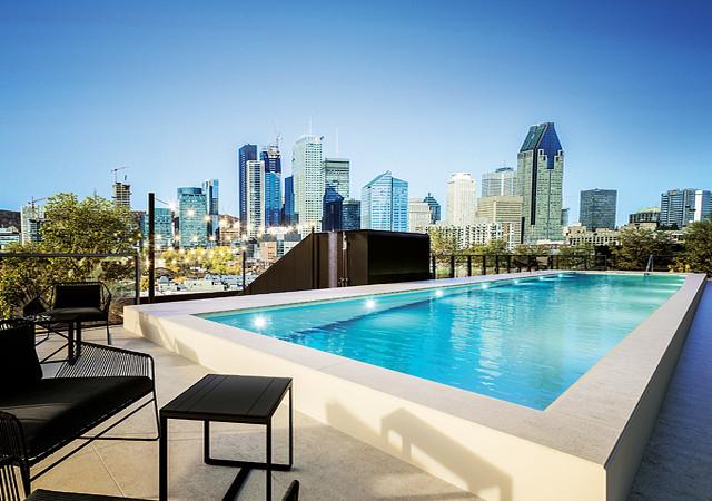 Beautiful rooftop pool