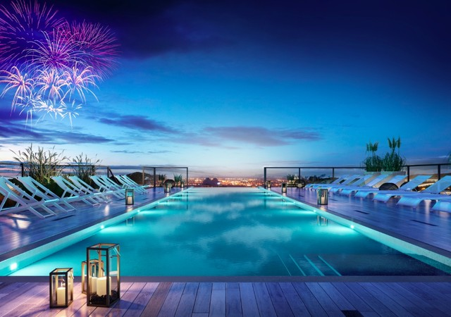 Station sud condos mont r gie rive sud for Club piscine rive sud montreal