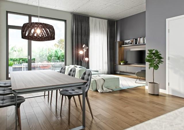 Salon avec un balcon privé