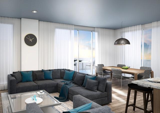 westbury condos salon et salle à manger dans un condo