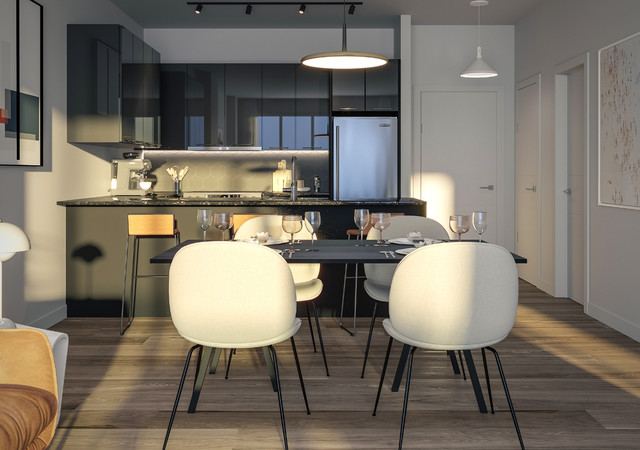 Will + Rich espace salle a diner et cuisine