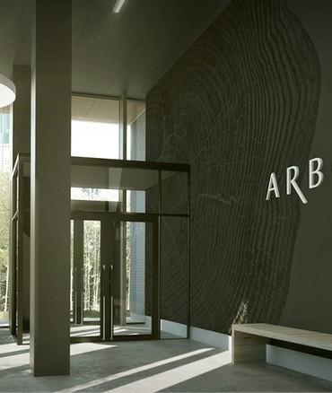l'entrée du projet Arbora offrant du locatif
