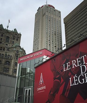 Tour-des-canadiens-phase-2-bureau-de-vente-exterieur