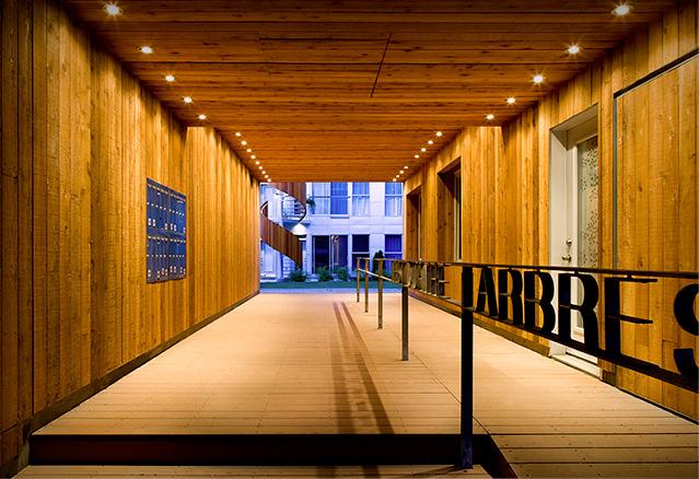 corridor pour aller au projet 2. 4 arbres, Atelier Raouf Boutros Architecte