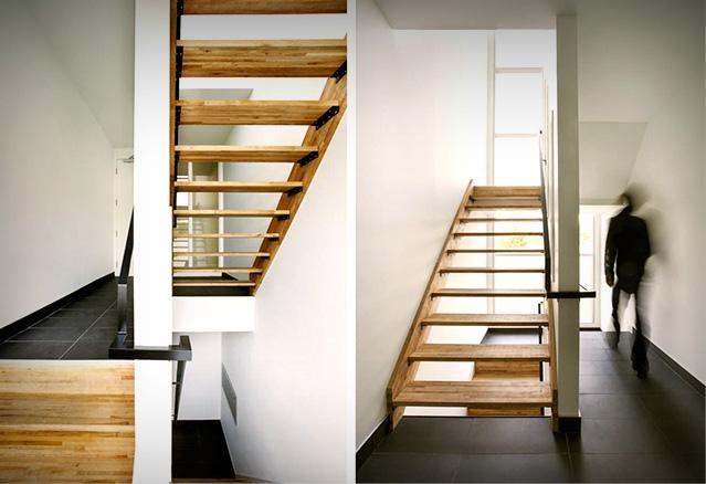 Les escaliers intérieurs des Résidences St-Zotique, Nature Humaine