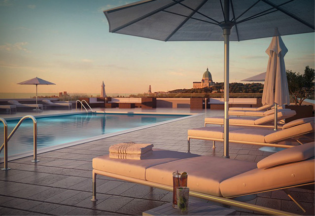 la piscine du projet Beaumont