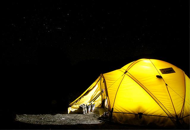 dormir dans une tente
