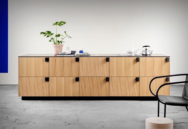 meuble avec poignées en ceintures du Ikea