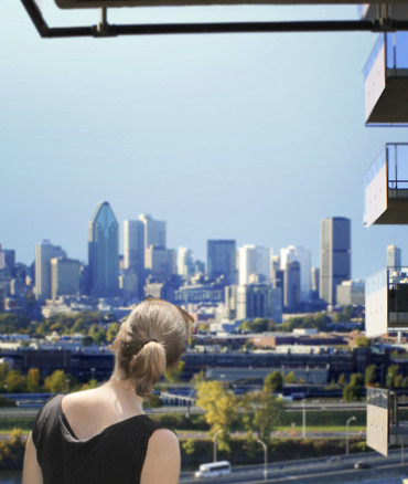 Perspective et vue de Montreal de Evolo X