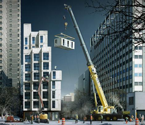 assemblage de micro appartement