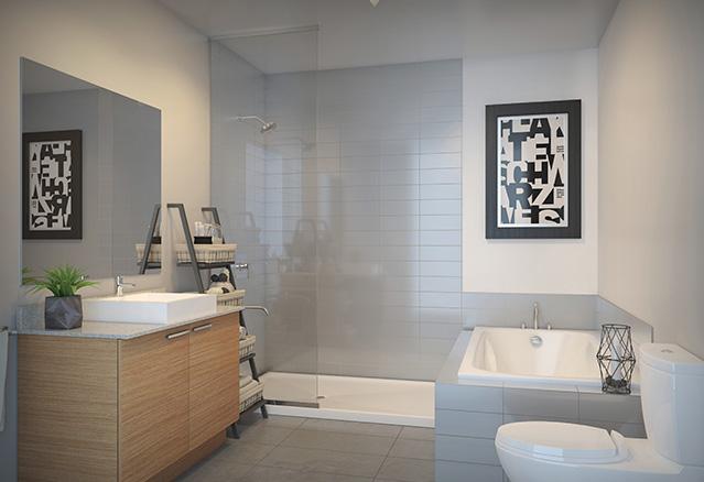 Salle de bain des condos Lespérance