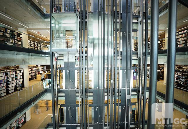 les ascenseurs de la banq