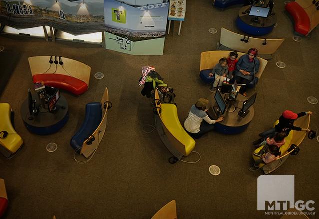 salle pour les jeunes de la Bibliothèque et Archives nationales du Québec
