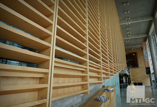mur de la Bibliothèque et Archives nationales du Québec