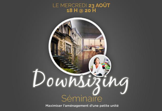 conférence downsizing avec marie-josée leblanc