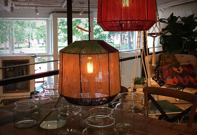 lampe pour table à manger style bohémien