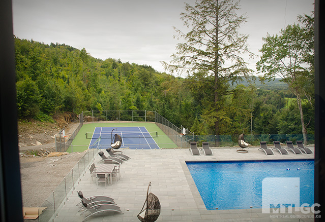 piscine et tennis de Bel Air Tremblant