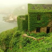 village chinois de pêcheur abandonné