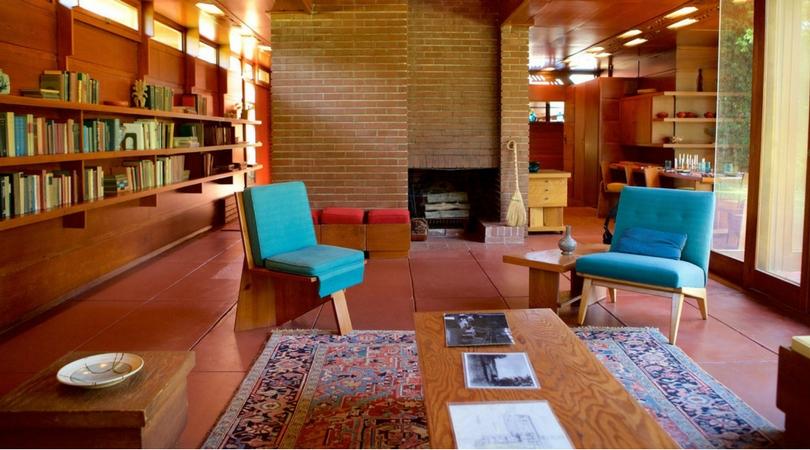 Salon de maison usonienne