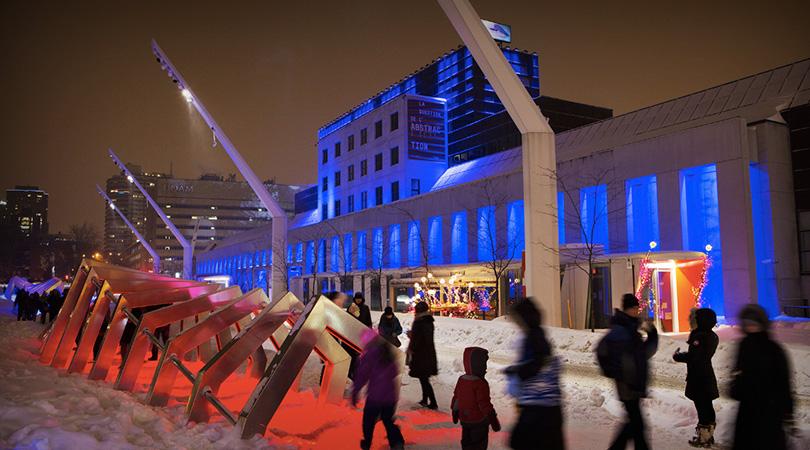 quartier des spectacles à Montréal
