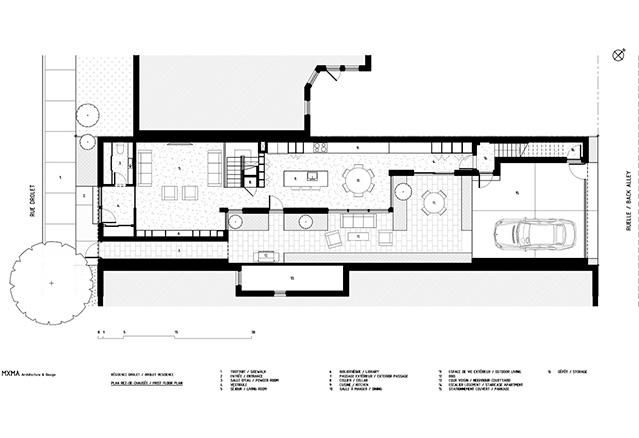 plan de la maison à aire ouverte