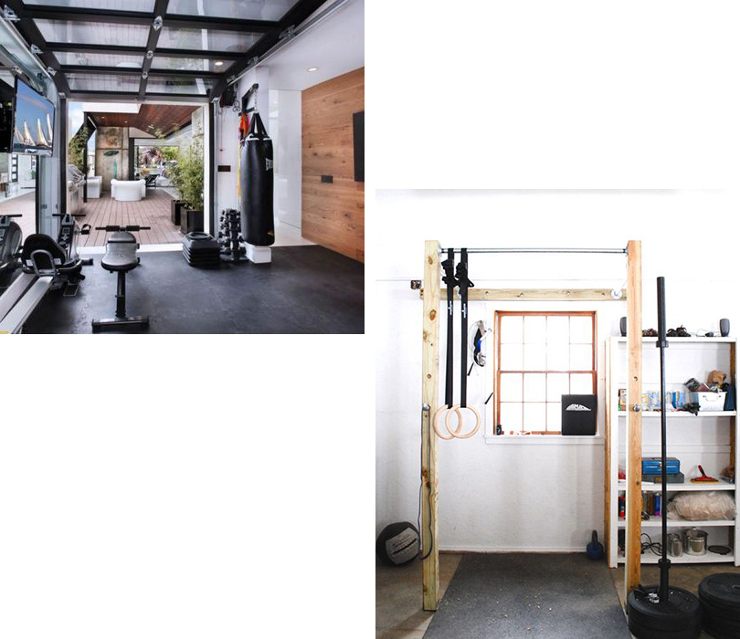 optimisation du garage pour y mettre un gym