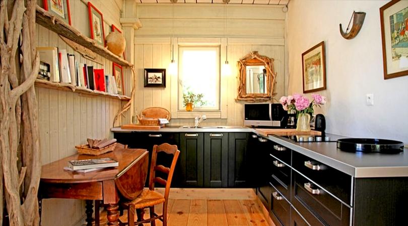 cuisine design noir bois